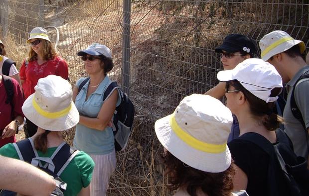 Галина Любан проводит экскурсию в Израиле